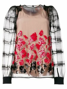 Nº21 floral sequin blouse - Black