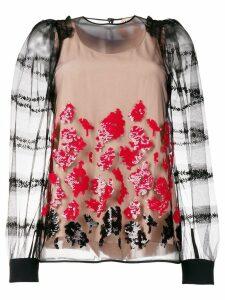 Nº21 floral sequin blouse - Black