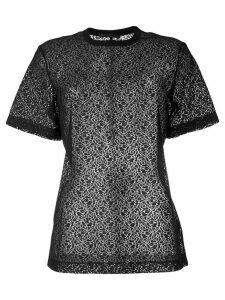 Helmut Lang micro-pattern T-shirt - Black