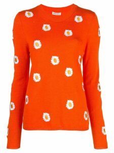 Mansur Gavriel floral embroidered sweater - ORANGE