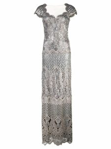 Tadashi Shoji structured gown - Metallic