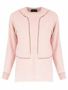 Andrea Bogosian perforated sweater - Pink