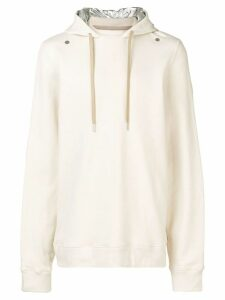 Zilver Hoodie in Organic Cotton and Contrast Hood in Recycled Nylon -