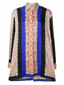 Etro embroidered long-sleeve shirt - Blue