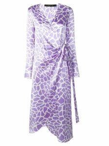 Federica Tosi wrap front midi dress - Purple