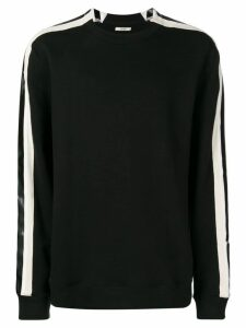 Zilver organic cotton side-stripe sweatshirt - Black