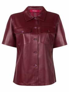 Sies Marjan fitted leather shirt - Red