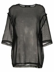 Yang Li sheer panel blouse - Black