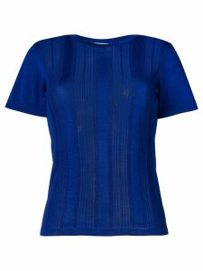 Barrie short-sleeve fitted T-shirt - Blue