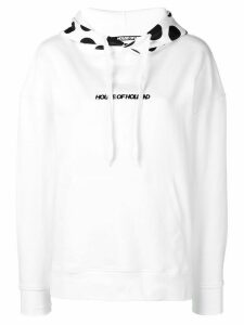 House of Holland polka-dot logo hoodie - White