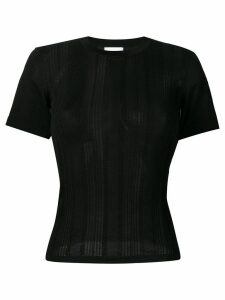 Barrie short-sleeve fitted sweater - Black