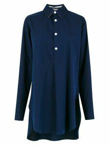 Reinaldo Lourenço longline polo shirt - Blue
