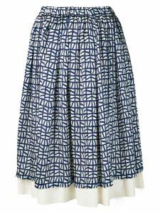 Comme Des Garçons Comme Des Garçons full printed skirt - Blue