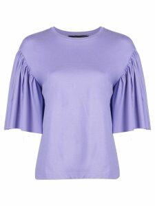 Federica Tosi bell sleeve shirt - Blue