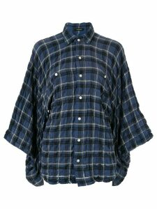 R13 plaid draped shirt - Blue