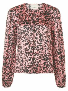 Laneus leopard print shirt - PINK