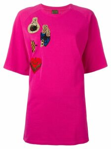 Mr & Mrs Italy multi patch T-shirt - PINK
