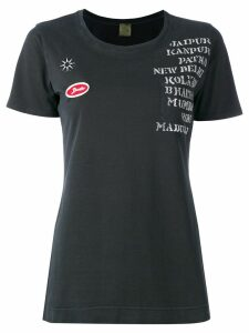 Mr & Mrs Italy embellished print patch T-shirt - Black