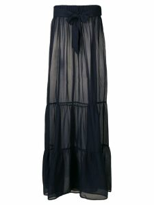 Marlies Dekkers tiered beach maxi skirt - Blue
