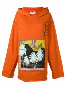 Ambush oversized printed hoodie - Orange