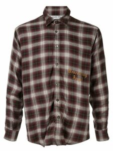 Ground Zero Descending Angel checked shirt - Red