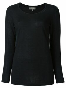 N.Peal cashmere superfine longsleeved top - Black