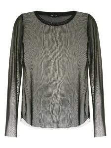 Uma Raquel Davidowicz sheer Ava blouse - Black