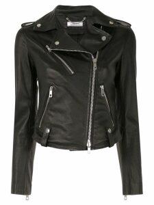 Desa 1972 fitted biker jacket - Black