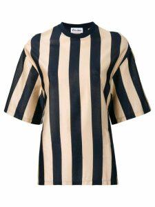 Études Hustle stripe T-shirt - Blue