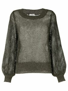 We Are Kindred Macy sheer knit jumper - Brown