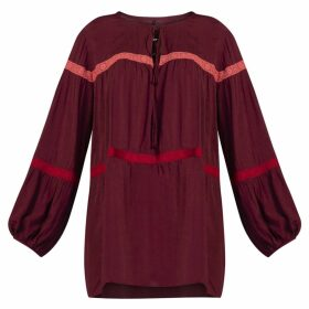 GISY - Lyric Lace Trim Blouse Rosewood