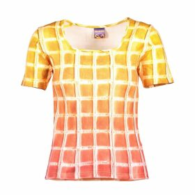 Manon Planche - Square T-Shirt Yellow Gradient