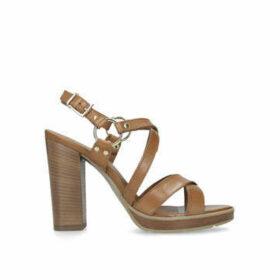 Carvela Karmen - Tan Block Heel Strappy Sandals
