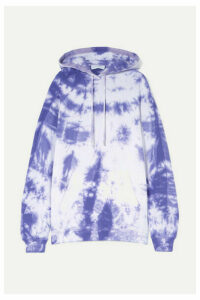 Ninety Percent - + Net Sustain Tie-dyed Organic Cotton-jersey Hoodie - Purple