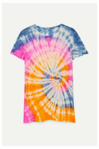 The Elder Statesman - Tie-dyed Cashmere And Silk-blend T-shirt - Pink