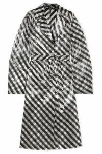 Dries Van Noten - Striped Organza Trench Coat - Black
