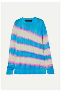 The Elder Statesman - Raya Tie-dyed Silk Sweater - Blue