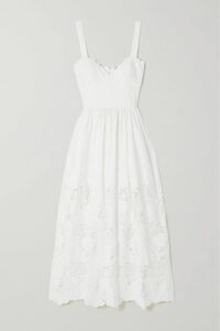 APIECE APART - Cala Striped Cotton And Lurex-blend Voile Top - Ivory