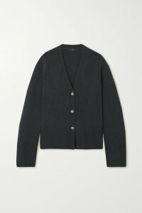 PAPER London - Caicos Cropped Gathered Striped Linen-blend Top - Turquoise