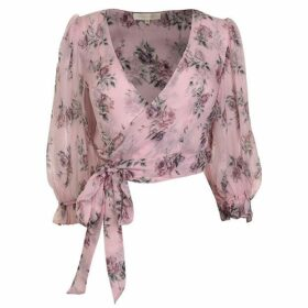 LoveshackFancy Domino Floral Wrap Top