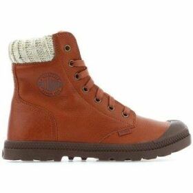 Palladium  Pampa HI Knit LP 95172-251M  women's Shoes (High-top Trainers) in Brown
