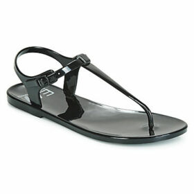 Emporio Armani EA7  SEA WORLD BW LOGO SERIES JELLY W SANDAL  women's Flip flops / Sandals (Shoes) in Black