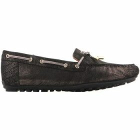 Geox  D Leelyan A - SHI.Suede D724RA 00077 C9999  women's Loafers / Casual Shoes in Black