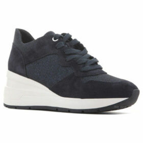 Geox  D Zosma C - Suede+Glitt.Tex D828LC 022EW C4002  women's Shoes (Trainers) in Blue