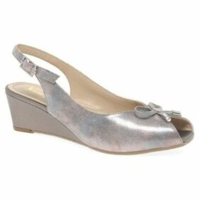 Van Dal  Woodburn Womens Sling Back Peep Toe Wedges  women's Sandals in Silver