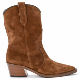 Via Roma 15  Tronchetto texano in camoscio marrone  women's Low Ankle Boots in Brown