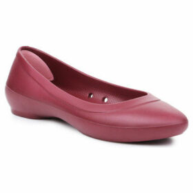 Crocs  Lina Flat 203404-612  women's Shoes (Pumps / Ballerinas) in Red