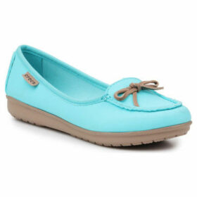 Crocs  Wrap Colorlite Ballet Flat W 16209-4DW  women's Loafers / Casual Shoes in Blue