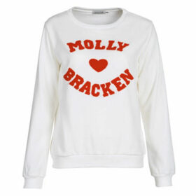 Molly Bracken  MOLLIUKE  women's Sweatshirt in White