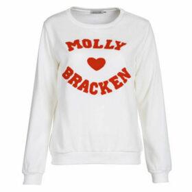 Molly Bracken  MOLLIUKE  women's Sweatshirt in White